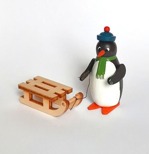 Pinguin mit Schlitten