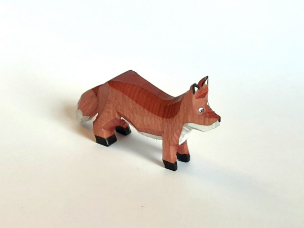 Fuchs stehend - farbig