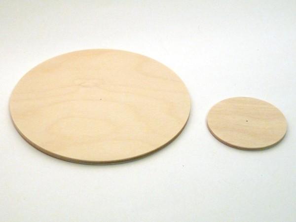 Pyramidenteller Ø 50 - 150 aus Birkesperrholz mit Zentrierbohrung
