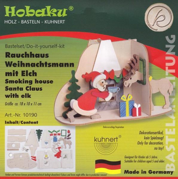 Bastelset - Rauchhaus Weihnachtsmann mit Elch 10190