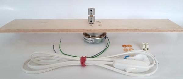 Motorset - Platte 40cm, Kupplung für 6mm Stahlwelle, Anschlussleitung, Motor