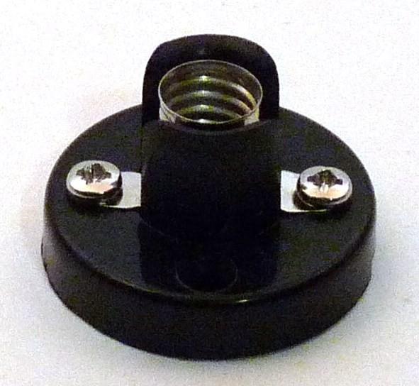 Fassung E10, mit Kunststoffuß isoliert