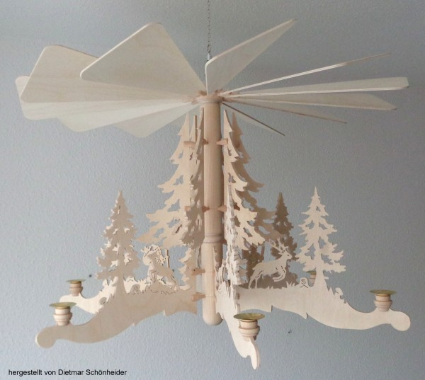 Laubsägevorlage Hängepyramide - Motiv Baum