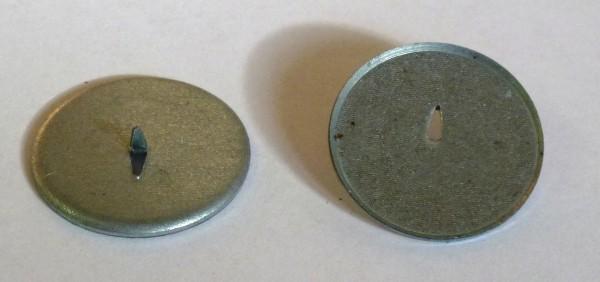 Räucherkerzenunterblech mit Spitze, Ø 22mm