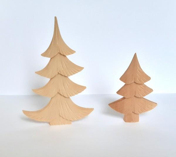 Geschnitzter Baum - flache Form - aus Lindenholz