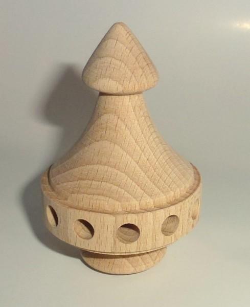 Pyramidenkopf Turm klein - mit 12 Bohrungen Ø 6mm