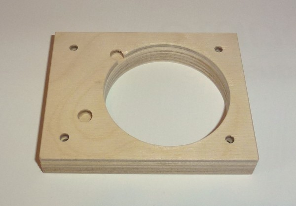 Adapterplatte für Mörzmotor flache Ausführung