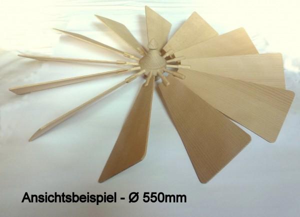 Flügelrad mit Bucheflügel massiv Stärke 2.8mm - steckbar