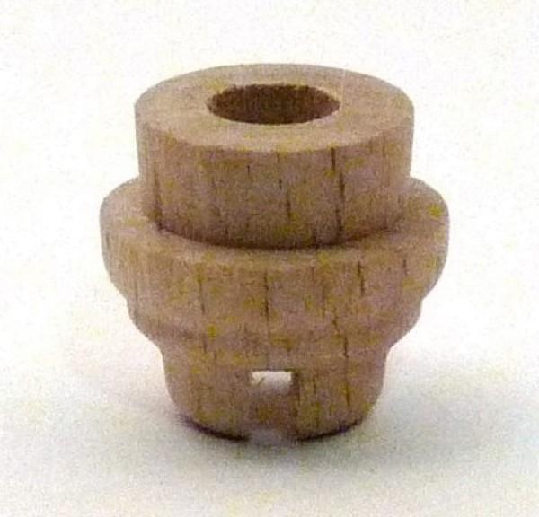 Lichtertülle aus Buchenholz - abgesetzte Form - für Fassung E10