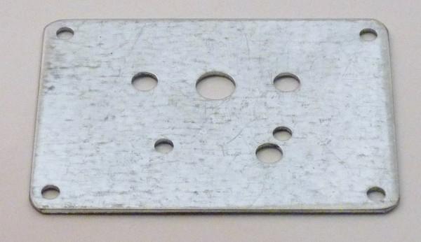 Grundplatte für Mörzmotor aus Stahl, 80x60mm