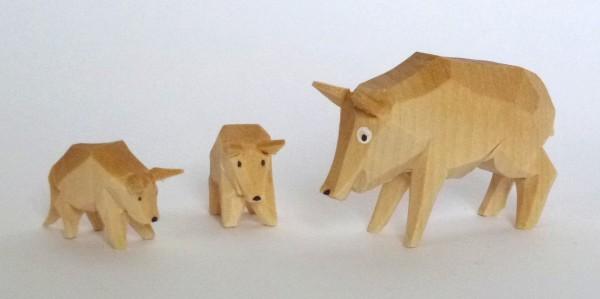 Wildschweingruppe - 3 teilig