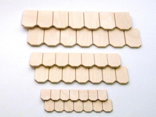 Schindelreihe aus Birkesperrholz