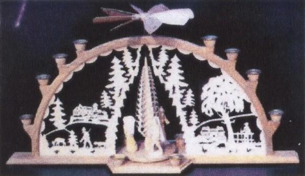 Vorlage Schwibbogen - Motiv Lichterbogen mit Pyramide