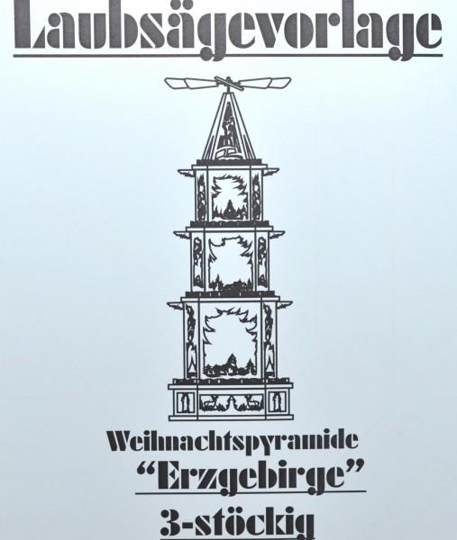 Pyramidenvorlage - Motiv 1188 Weihnachtspyramide Erzgebirge