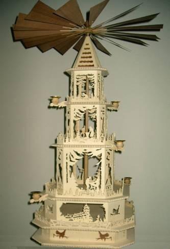 Vorlage Pyramide - Motiv 1124 Erzgebirgische Weihnachtspyramide