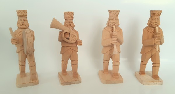 Bergmannskapelle geschnitzt - Gruppe 4 Pauke - vierteilig