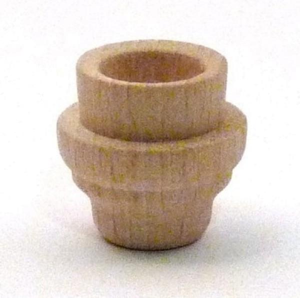 Lichtertülle aus Buchenholz 15er Bohrung - abgesetzte Form