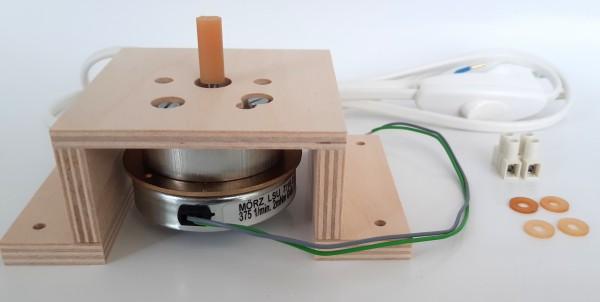 Motorset - Platte U-Form, Schlauchkupplung, Anschlussleitung, Motor
