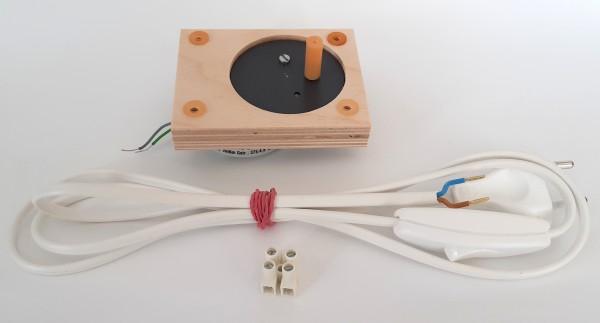 Motorset - Adapterplatte, Schlauchkupplung, Anschlussleitung, flacher Motor