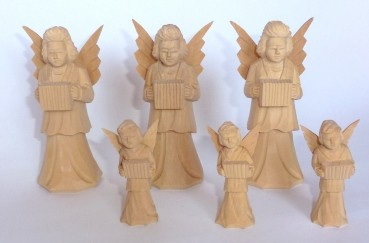 Engel geschnitzt - 3teiliges Set