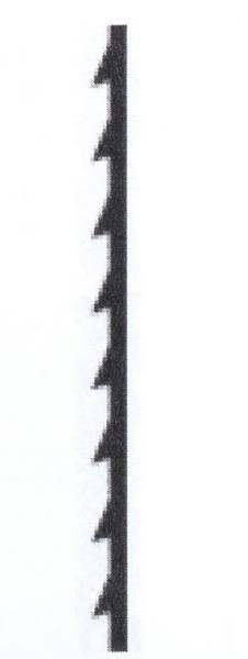Laubsägeblatt Blitz