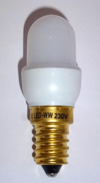 LED-Birne für Fassung E14 - 230 Volt / 1W