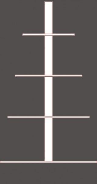 Steckbare Pyramidenwelle aus Buchenholz - gefertigt nach Ihren Maßen - 4 Etagen