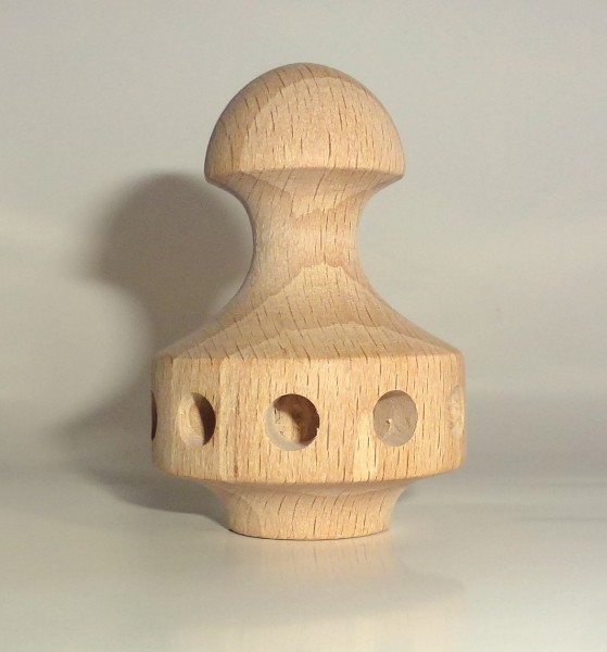 Pyramidenkopf Pilz - mit 10 Bohrungen Ø 6mm