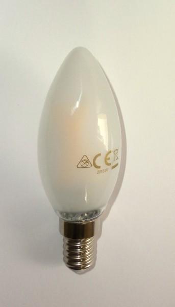 LED-Birne Tropfenform für Fassung E14 2.5W matt