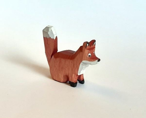 Fuchs sitzend - farbig