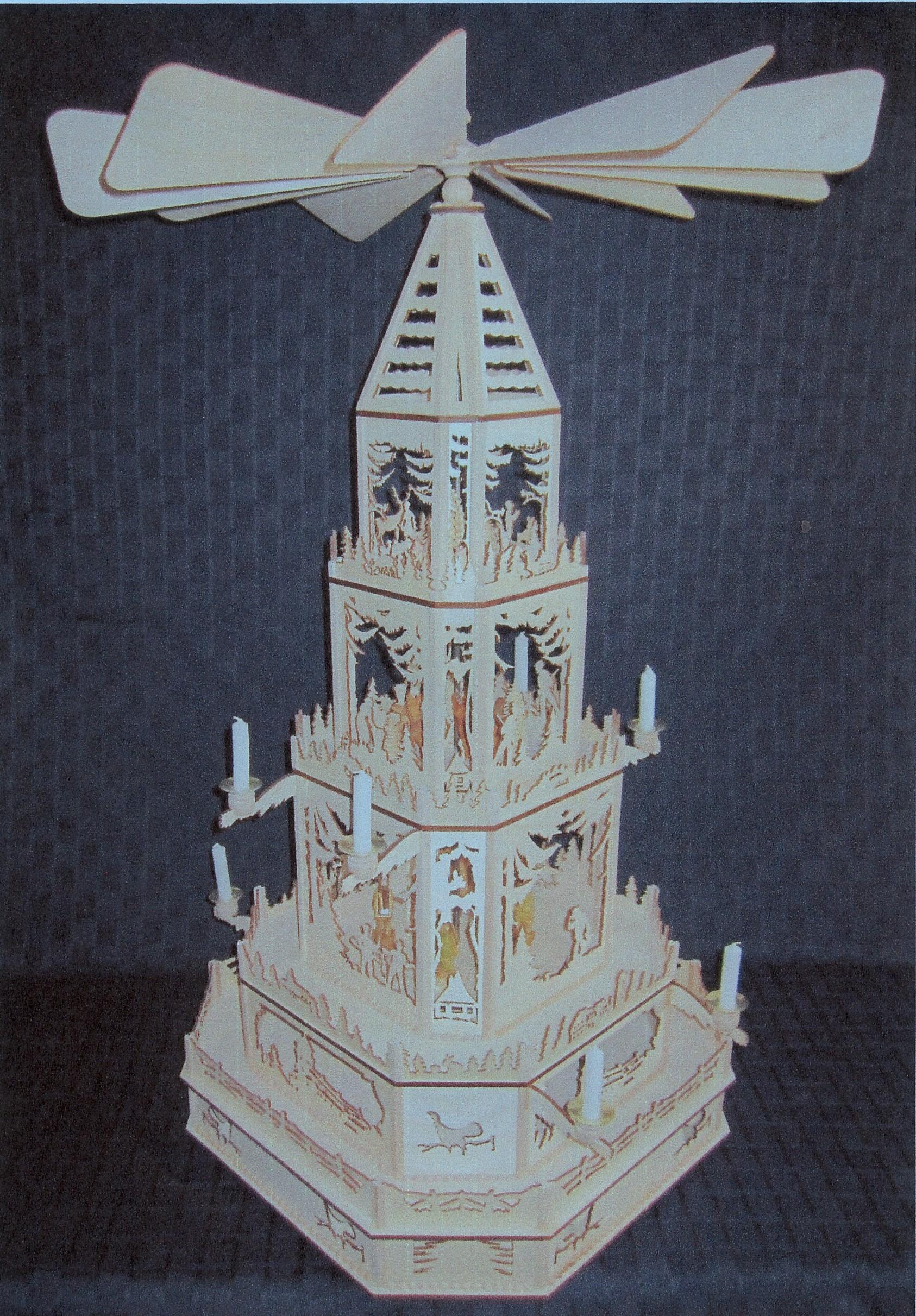 Laubsagevorlagen Pyramide Weihnachtspyramiden 10 8