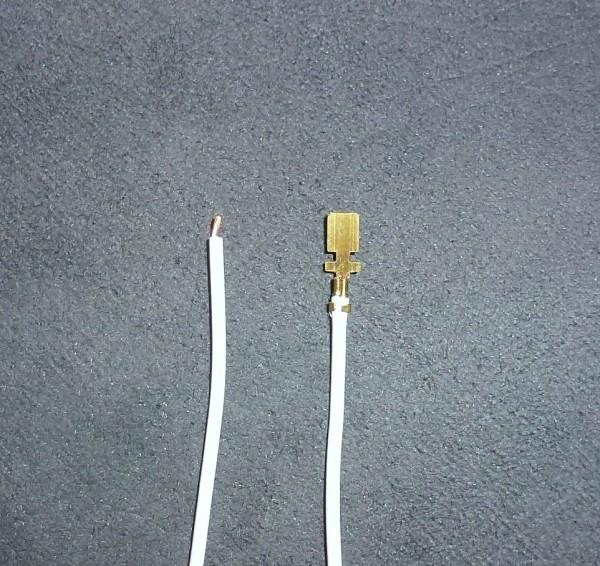 Litze-Kabel mit 1x angeklemmten Kabelschuh
