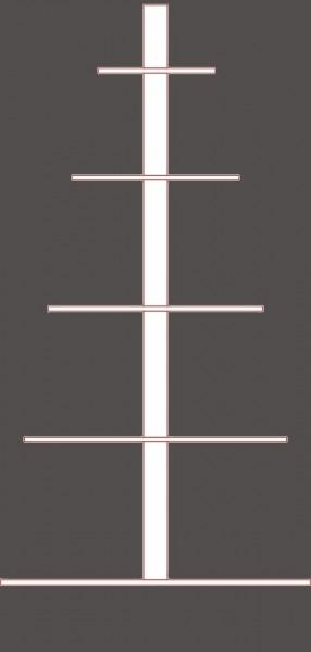 Steckbare Pyramidenwelle aus Buchenholz - gefertigt nach Ihren Maßen - 5 Etagen