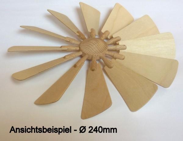 Flügelrad mit 12 Sperrholzflügel Stärke1.5mm - steckbar