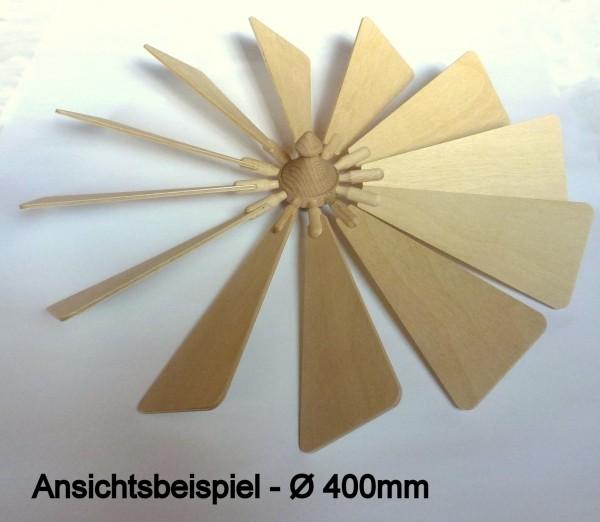 Flügelrad mit Sperrholzflügel Stärke 3mm - steckbar