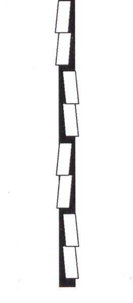 Laubsägeblatt Pinguin Silber