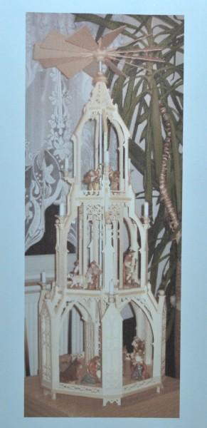 Pyramidenvorlage - Motiv 1184 Weihnachtspyramide im gotischen Stil