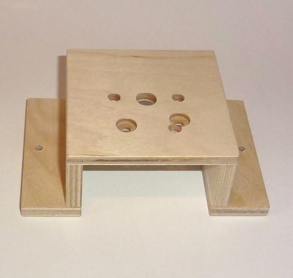 Grundplatte für Mörzmotor aus Sperrholz, U-Form