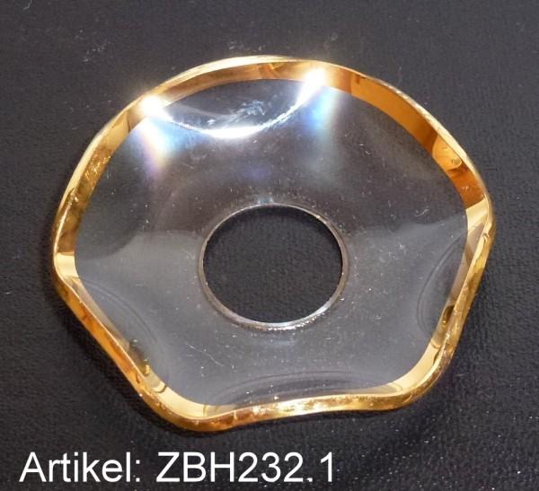 Lichtmanschette / Glasteller mit Goldrand