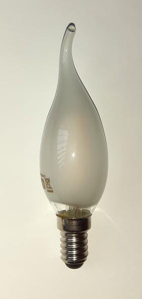 LED-Birne Tropfenform für Fassung E14 1 Watt matt