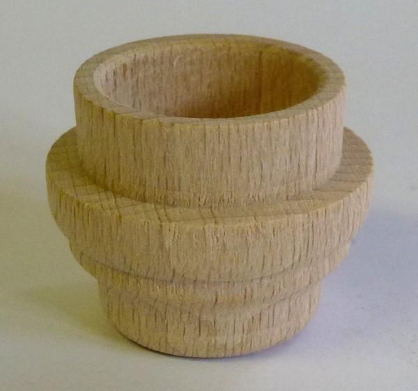 Lichtertülle aus Buchenholz für 22mm Blecheinsatz - abgesetzte Form