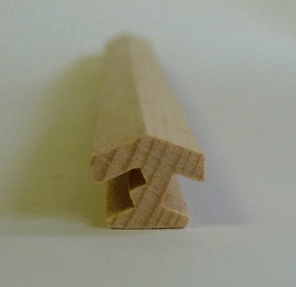 Nutleiste für 8 Ecken aus Buchenholz mit Kabelnut