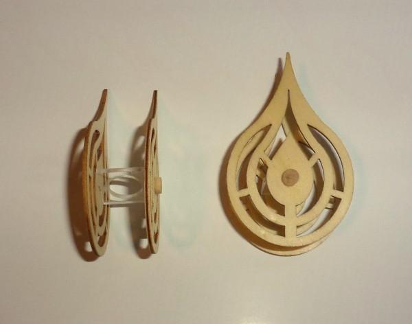 Kerzenaufstecker - Flamme aus Sperrholz - Höhe 7,5cm
