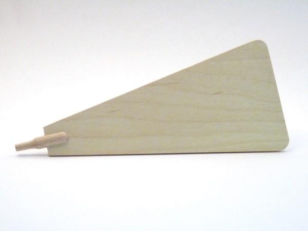 Pyramidenflügel mit Schaft für Ø 6mm, aus Sperrholz 3mm