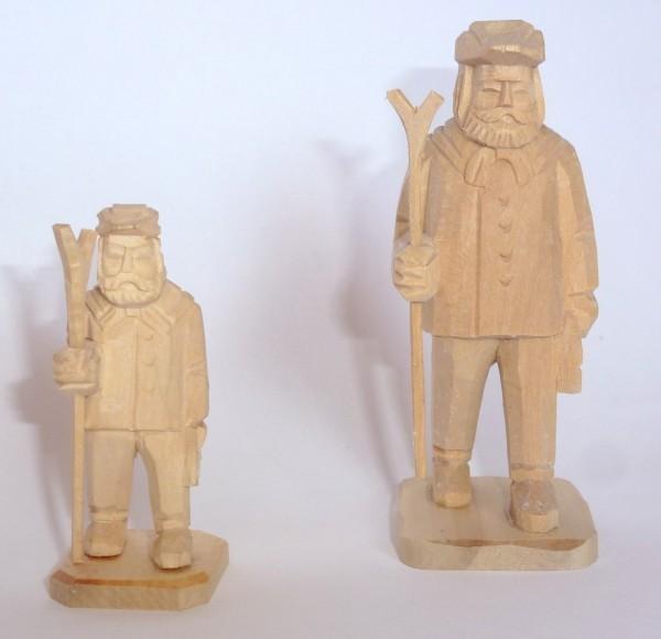 Holzfäller mit Säge - geschnitzt