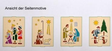 Vorlage Kastenlaterne - Motiv Christi Geburt