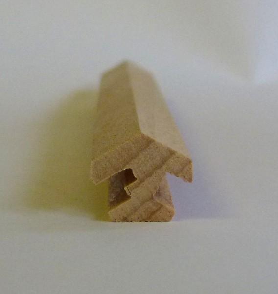 Nutleiste für 6 Ecken aus Buchenholz mit Kabelnut