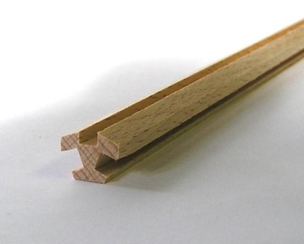 Nutleiste für 8 Ecken aus Buchenholz mit 3 Nuten