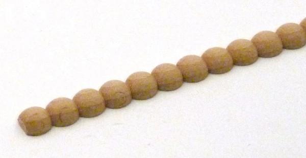 Perlleiste aus Buchenholz - halbiert