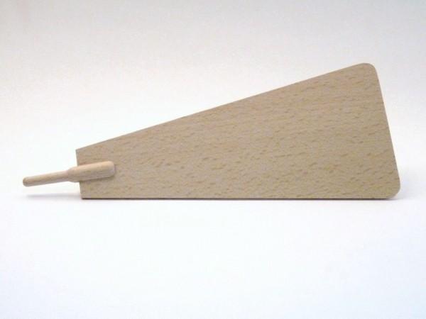 Pyramidenflügel mit Schaft für Ø 6mm, aus Buchenholz
